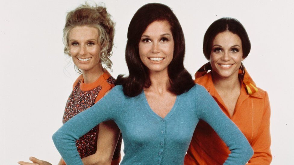 L-R: Cloris Leachman, Mary Tyler Moore and Valerie Harper of The Mary Tyler Moore Show