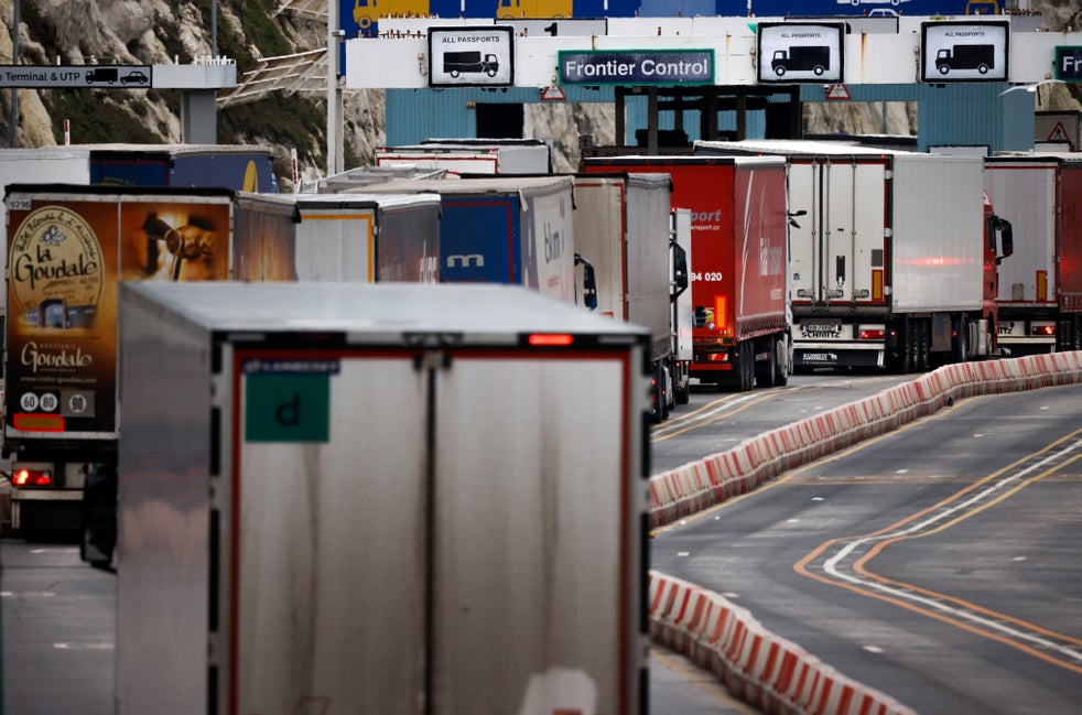 """<p>Businesses must now make customs declarations when exporting goods to the EU</p> <p>"""" height=""""5333″ width=""""8073″ srcset=""""https://static.independent.co.uk/2021/02/12/18/PRI179755722.jpg?width=320&auto=webp&quality=75 320w, https://static.independent.co.uk/2021/02/12/18/PRI179755722.jpg?width=640&auto=webp&quality=75 640w"""" layout=""""responsive"""" class=""""i-amphtml-layout-responsive i-amphtml-layout-size-defined"""" i-amphtml-layout=""""responsive""""><i-amphtml-sizer></i-amphtml-sizer><!-- nothing --><figcaption class="""