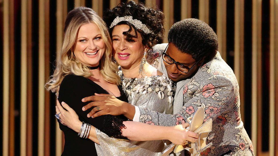 Amy Poehler, Maya Rudolph and Kenan Thompson
